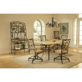 Brookside 5-piece Dining Set with Caster Chairs