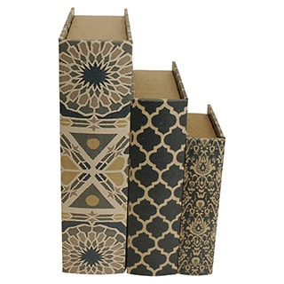 Wald Imports Book Design Storage Boxes (Set of 3)