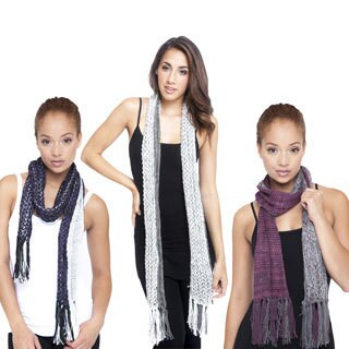 Reversible Handmade Scarf with Fringe (Nepal)