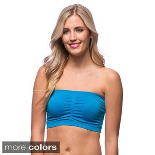 24/7 Frenzy Women's Shirred Padded Bandeau Bra (Pack of 6)