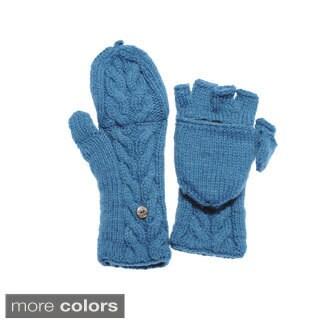 Handmade Women's Knit Convertible Fingerless Gloves (Nepal)