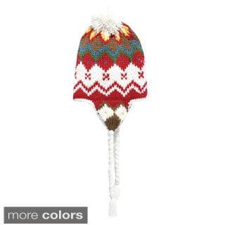 Handmade Knit Snowboarding Hat with Pom Pom (Nepal)