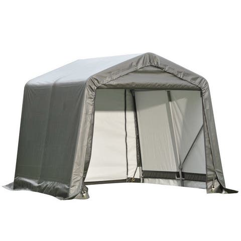 Shelterlogic Outdoor Garage Automotive/ Boat Grey 12 x 10-foot Storage Shed