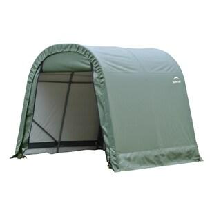 Shelterlogic Outdoor Round Garage Boat/ Car Green 8 x 8 x 16-foot Storage Shed