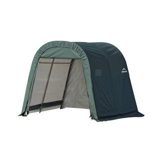 Shelterlogic Outdoor Round Green Storage Shed 10' x 8' x 8'