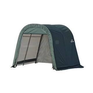 Shelterlogic Outdoor Round Garage Boat/ Car Green 11 x 10 x 8-foot Storage Shed