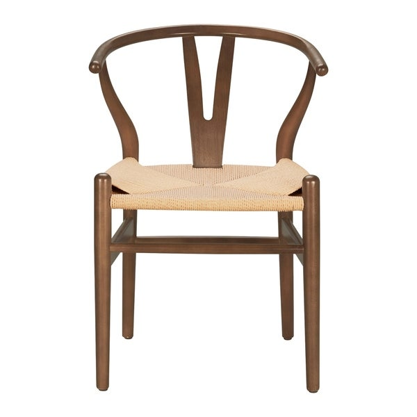 Poly and Bark Walnut Finish Weave Chair