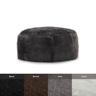 BeanSack Big Joe Lux Faux Fur Octagon Bean Bag Ottoman