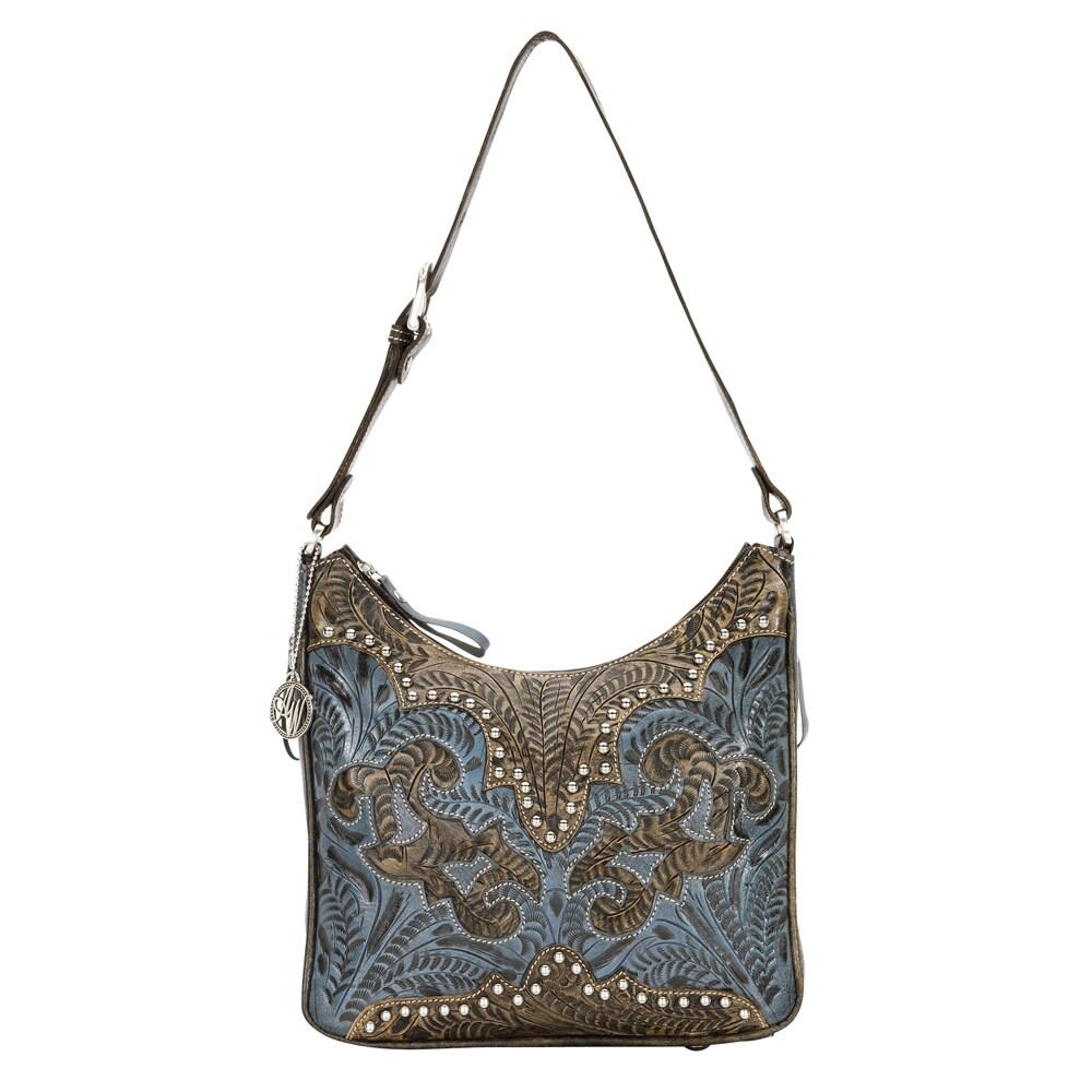 American West Distressed Crimson Brown Concealed Carry Handbag