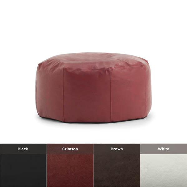 shop beansack big joe lux vegan leather octagon bean bag ottoman free shipping today. Black Bedroom Furniture Sets. Home Design Ideas