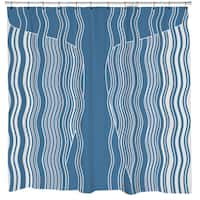 Whale and Waves Shower Curtain