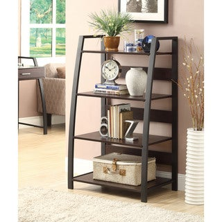 Coaster Company Coffee and Black 4-shelf Open Bookcase