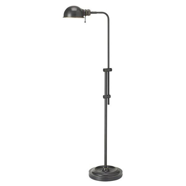 1-light Oil Brushed Bronze Steel Pharmacy Floor Lamp
