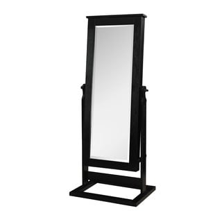 Powell Heidi Black Cheval Mirror