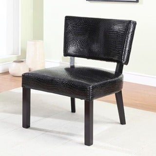 Powell Bianca Crocodile Print Accent Chair