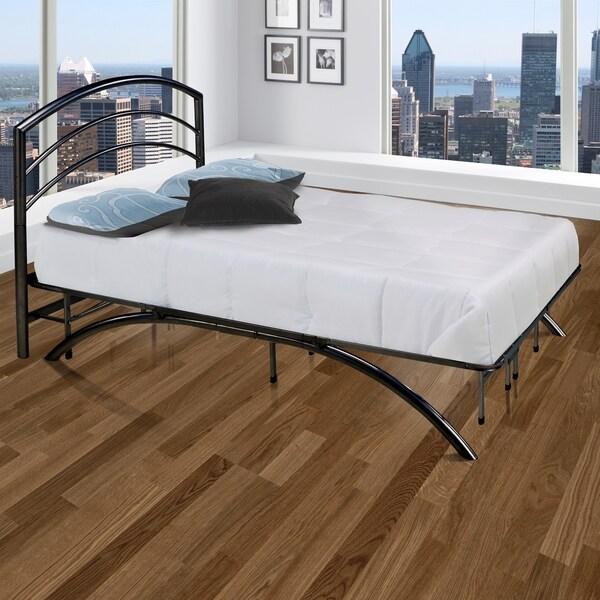 Sleep Sync Arch Flex Black Platform Bed Frame and Headboard