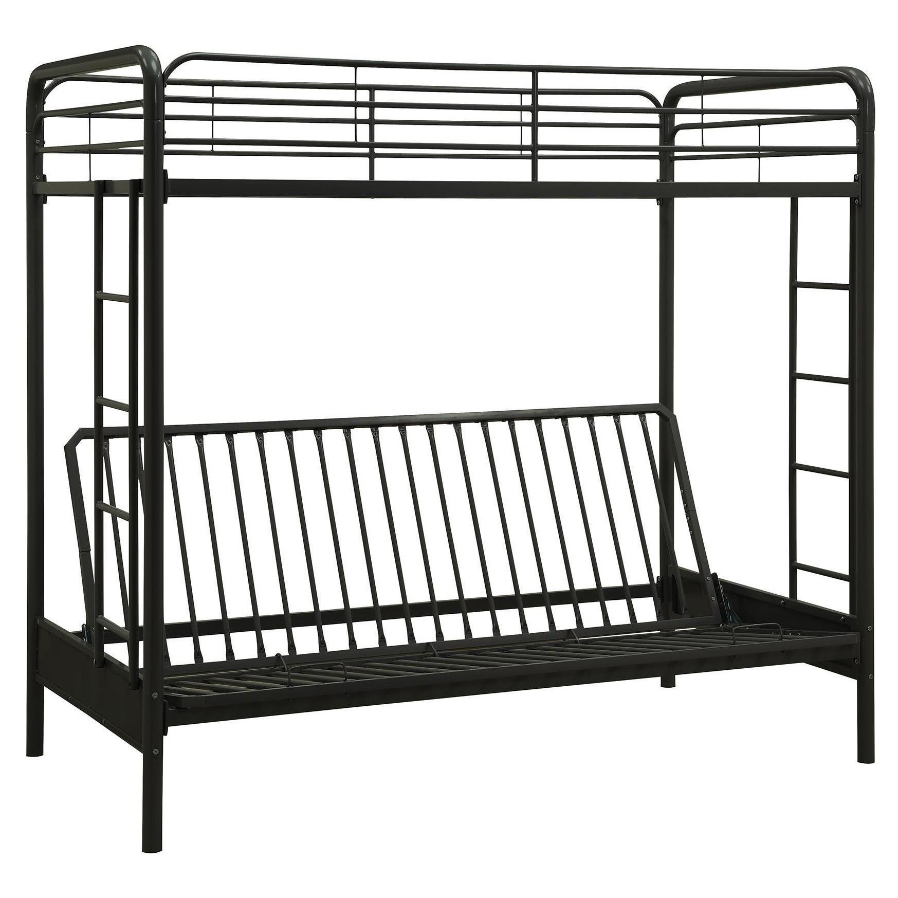 Dhp Twin Over Futon Black Metal Bunk Bed On Sale Overstock 9459648