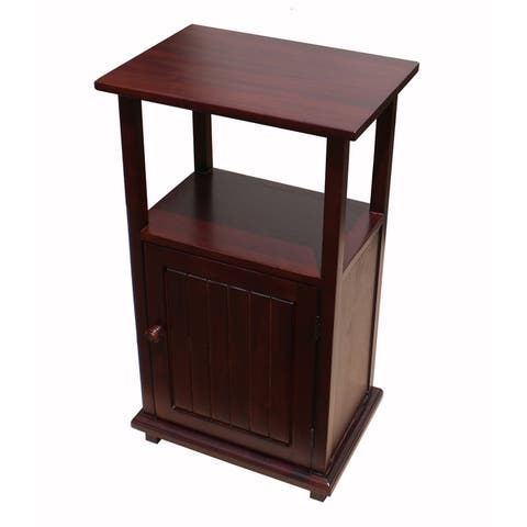 Handmade D-Art Mahogany Simplicity End Table (Indonesia)