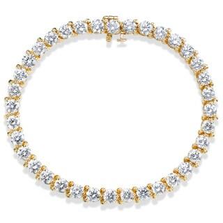 SummerRose 14k Yellow Gold 10ct TDW 3-prong Basket-set Tennis Bracelet