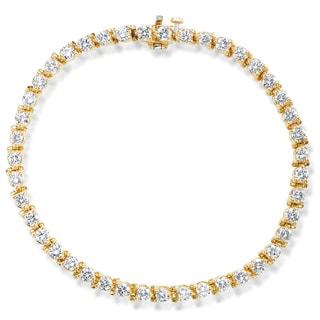 SummerRose 14k Yellow Gold 4 1/4ct TDW Prong-set Tennis Bracelet