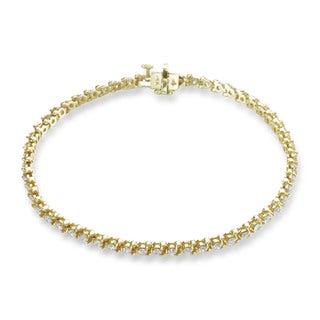 SummerRose 14k Yellow Gold 2ct TDW 3-prong Basket-set Tennis Bracelet (G-H, SI1-SI2)