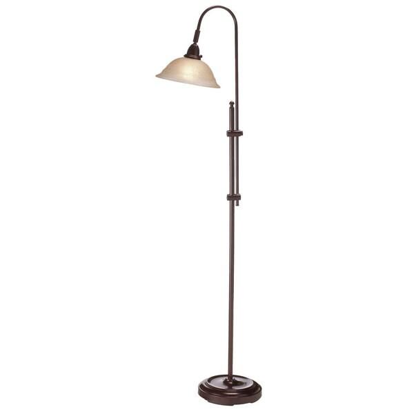 1-light Espresso Adjustable Floor Lamp