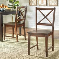 Simple Living Espresso Crossback Dining Chairs (Set of 2)