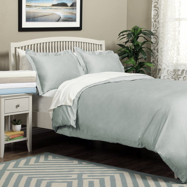 Regency 600 Thread Count Hemstitch 3-piece Duvet Cover Set
