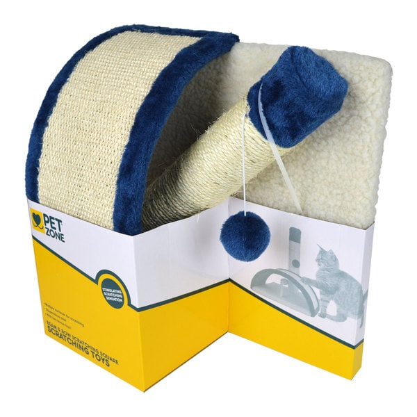 Pet Zone Beam & Bow Scratching Square Cat Scratcher