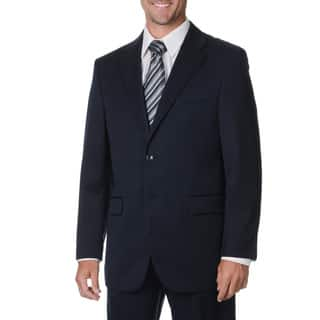Cianni Cellini Men's Navy Wool Gabardine Suit (Option: 46l)|https://ak1.ostkcdn.com/images/products/9459900/P16643393.jpg?impolicy=medium
