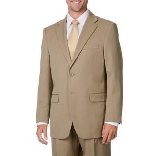 Cianni Cellini Men's Tan Wool Gabardine Suit (Option: 54l)
