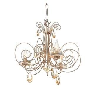 Varaluz Elysse 3-light Gold Dust Chandelier