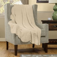 Madison Park Marino Oversized Quilted Throw with Scalloped Edges