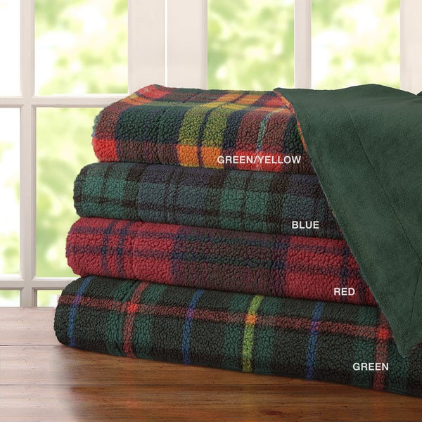 Premier Comfort Davalon Plaid Yarn Dyed Berber Throw