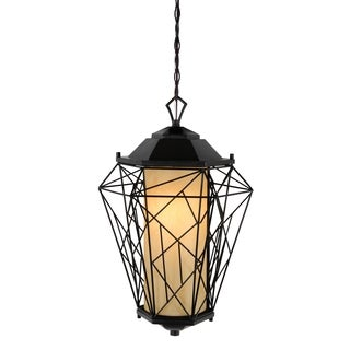 Varaluz Wright Stuff 1-light Black Outdoor Pendant