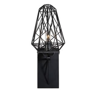 Varaluz Wright Stuff 1-light Black Wall Sconce