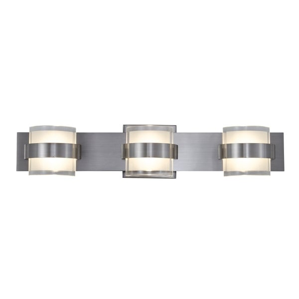 Rogue Decor Restraint LED 3-light Bath Fixture