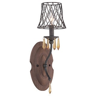 Varaluz Madelyn 1-light Forged Iron Wall Sconce
