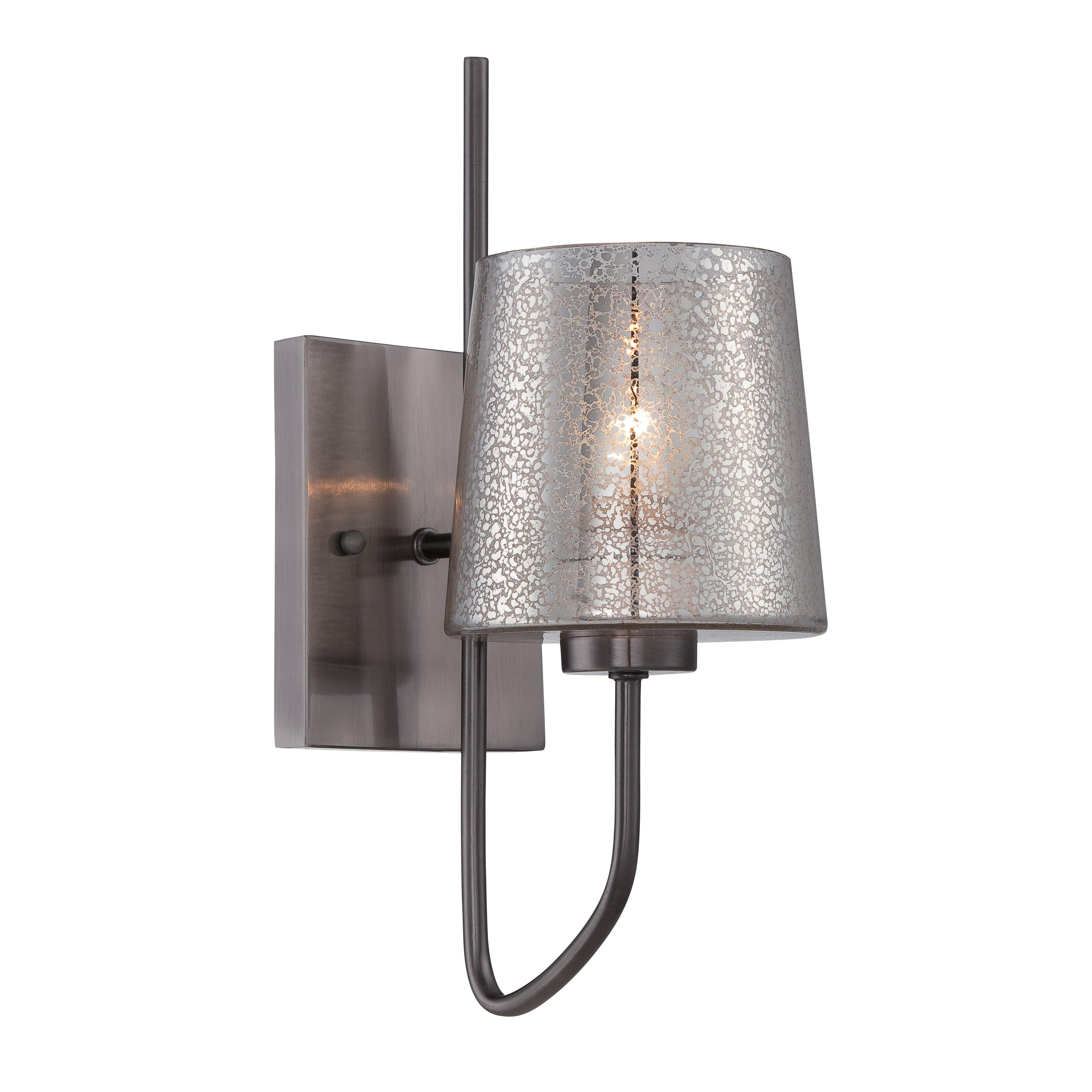 Varaluz Meridian 1-light Black Chrome Wall Sconce (Black chrome and Mercury glass)