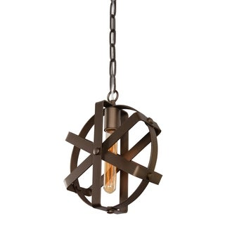 Varaluz Reel 1-light Rustic Bronze Mini Pendant