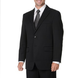 Cianni Cellini Men's Black Wool Gabardine Suit (Option: 50l)