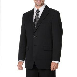 Cianni Cellini Men's Black Wool Gabardine Suit (More options available)
