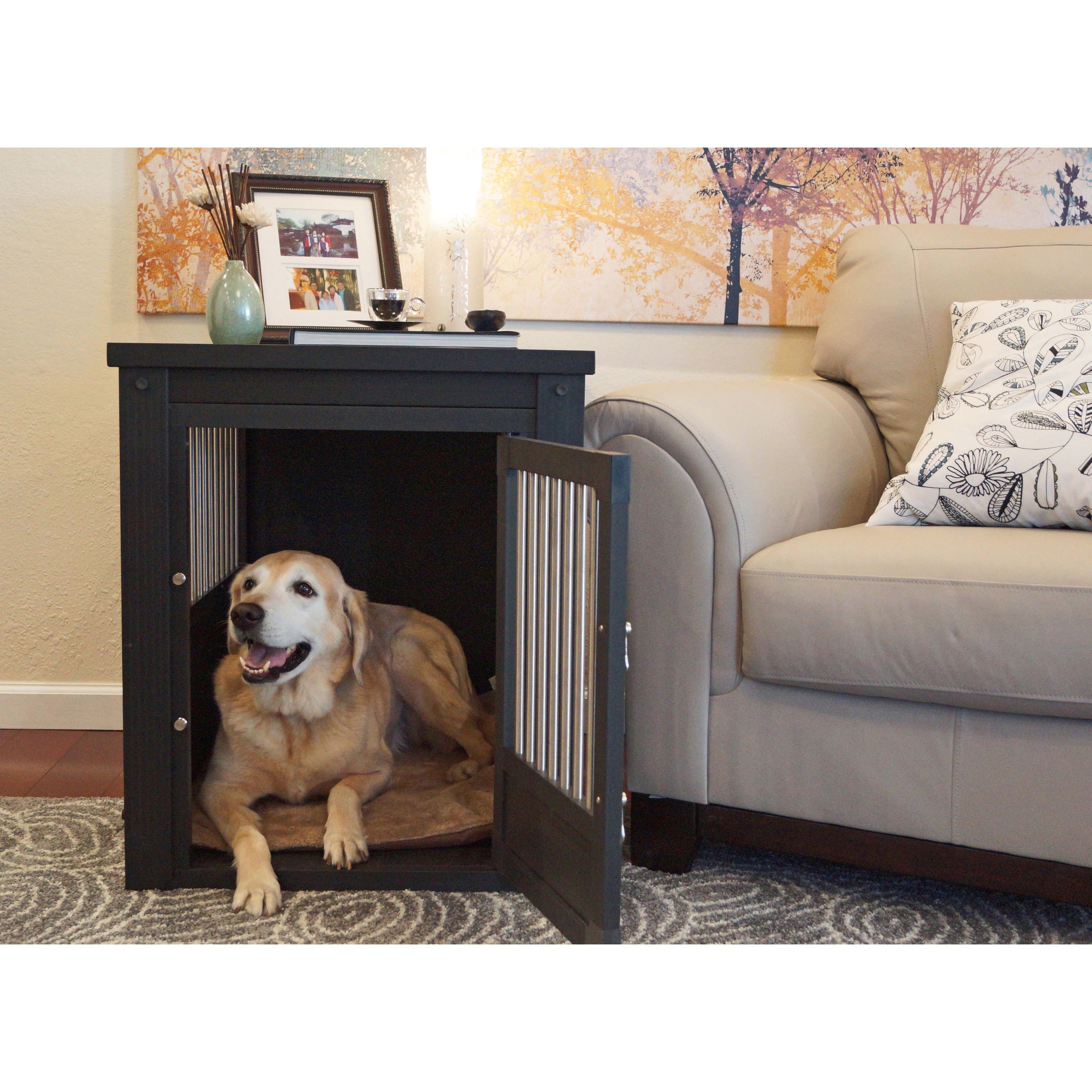 Pinta ecoFLEX Dog Crate/ End Table with Stainless Steel S...
