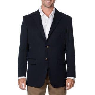 Cianni Cellini Men's Big & Tall Navy Wool Gabardine Blazer (Option: 60r)|https://ak1.ostkcdn.com/images/products/9460032/P16643397.jpg?impolicy=medium