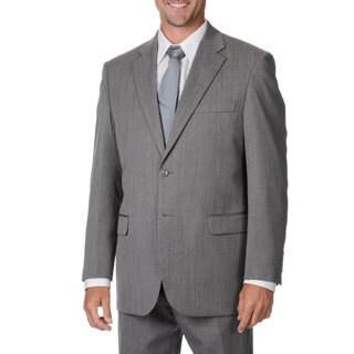 Cianni Cellini Men's Grey Wool Gabardine Suit