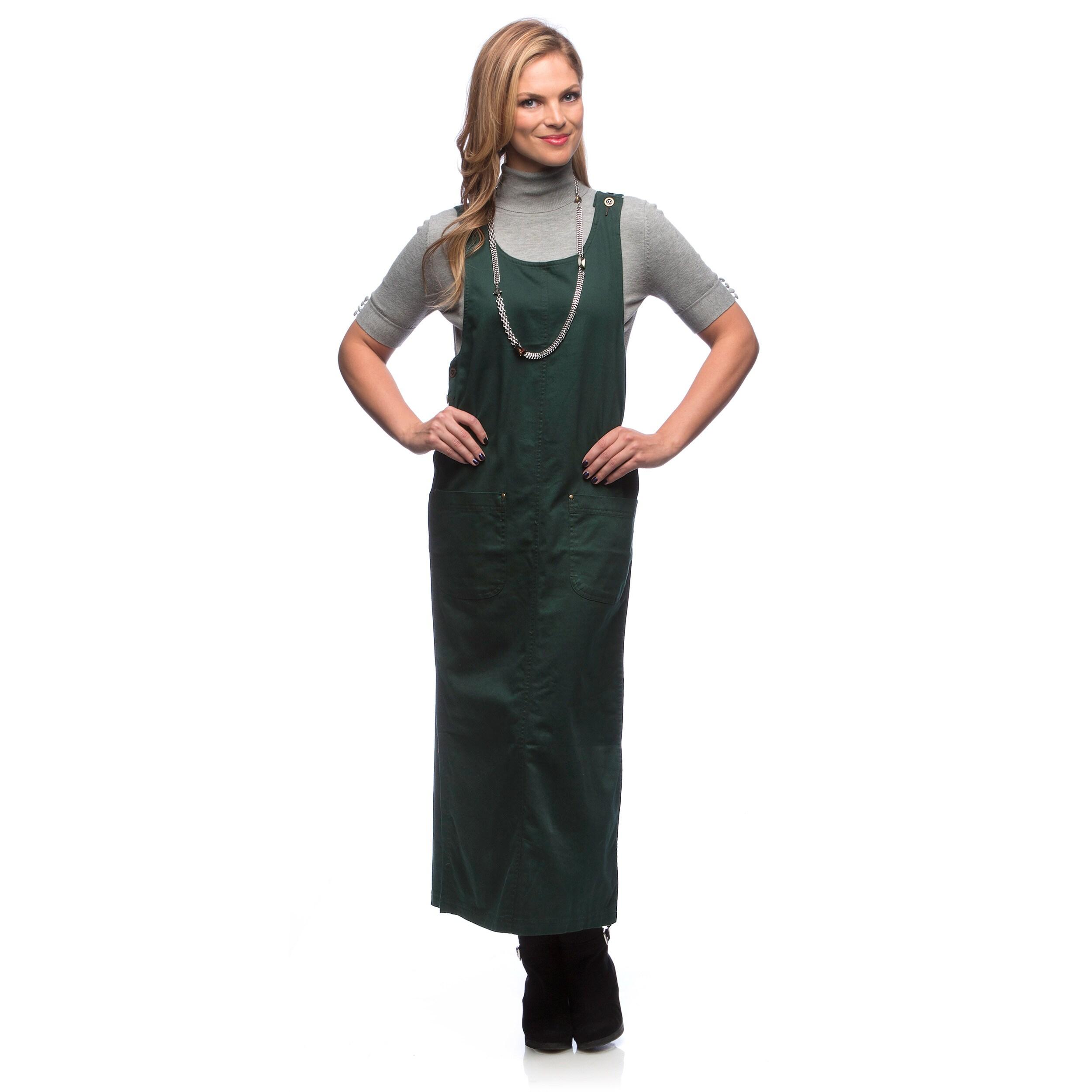 Live A Little Women's Green Sleeveless Long Jumper (Large...