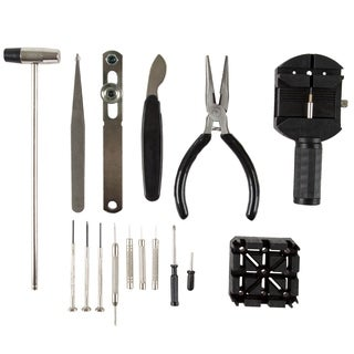 16 Piece Watch Repair Kit- DIY Tool Set for Repairing Watches by Stalwart
