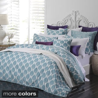 Fan Print 3-piece Duvet Cover Set
