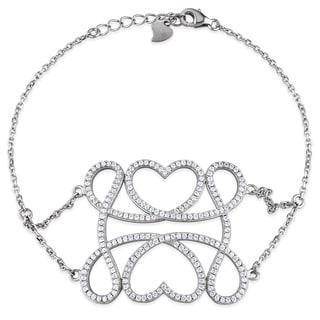 M by Miadora Sterling Silver Cubic Zirconia Fashion Bracelet