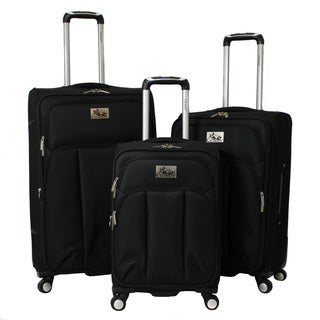 Chariot Marsala 3-piece Lightweight Expandable Spinner Upright Luggage Set